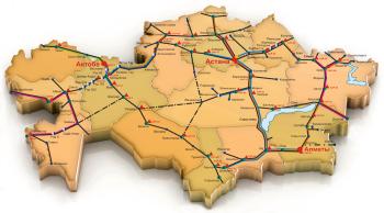 Казахстан карта
