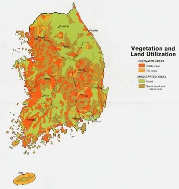 Корея карта